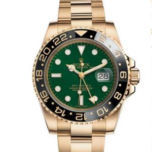Rolex Greenwich type II116718LN-0002 all-inclusive gold green plate pure imported Swiss 2836 automatic machinery